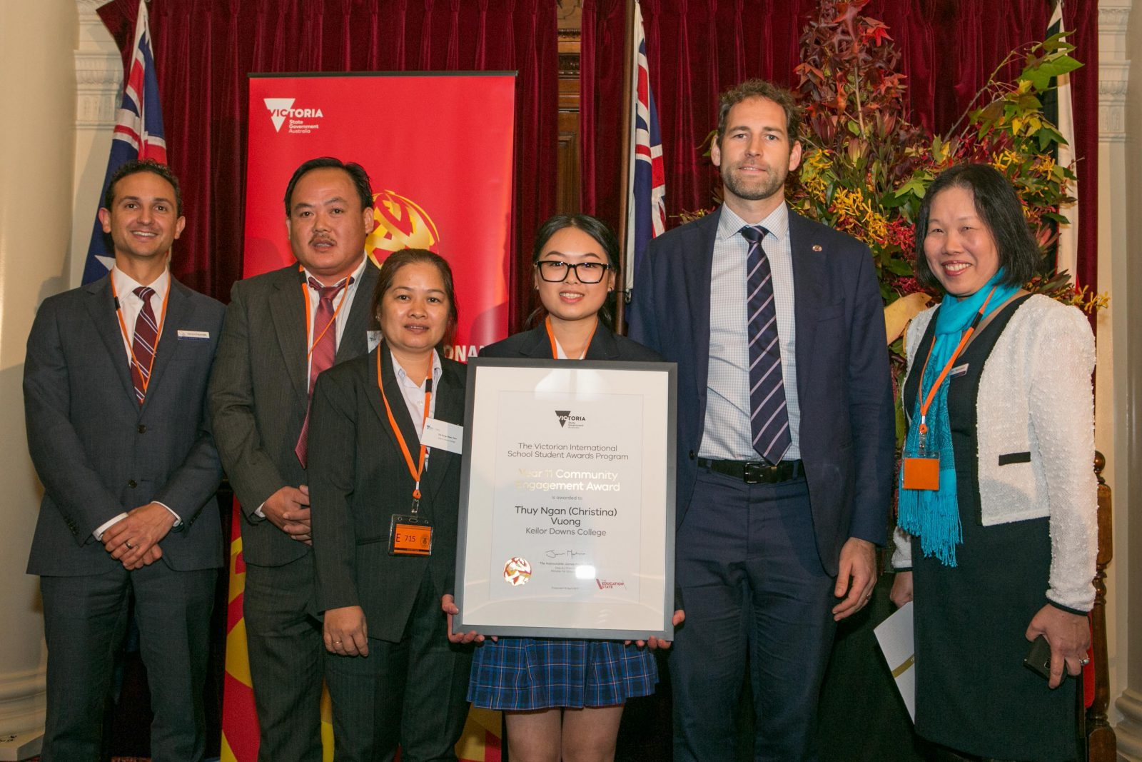 Thuy Ngan (Christina) VUONG 12G2, the winner of Year 11 Community Engagement Award