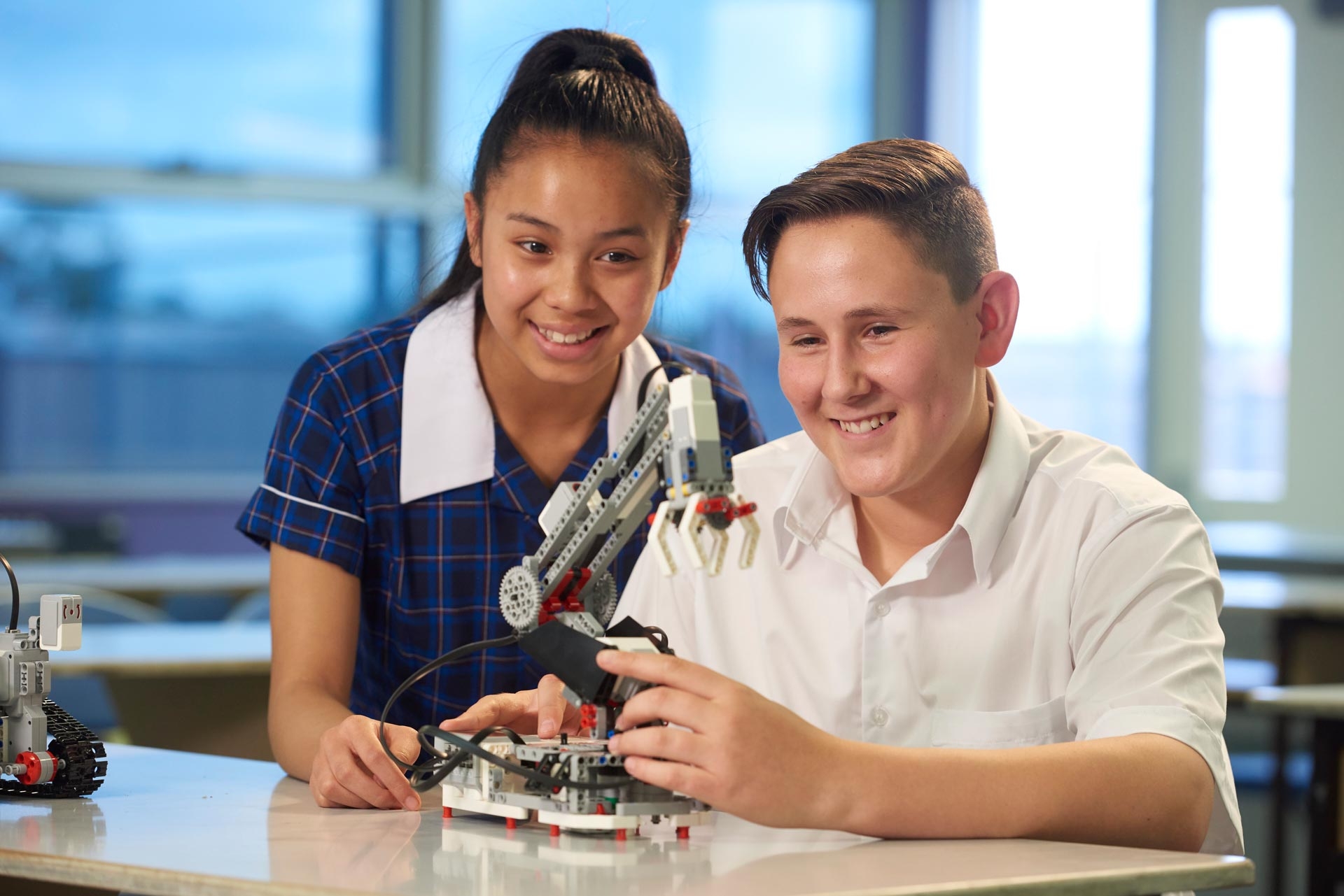 Robotics students